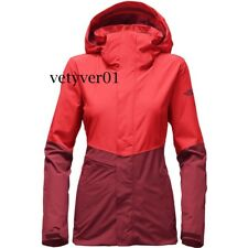 NWT THE NORTH FACE Women's Garner Triclimate Waterproof 3-in-1 Jacket Red sz XL