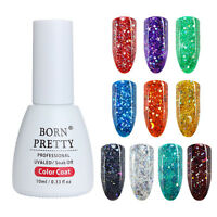 10ml Holographisch Star Moon Sequins Gellack Nails Soak Off UV Gel Born Pretty