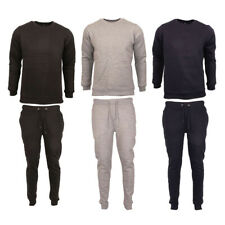 Mens Jogging suit Tracksuit Long Sleeve Sweat Shirt Bottoms Jogger Top Fleece