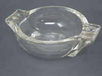 Vintage Glass Clear Art Deco Table Ashtray