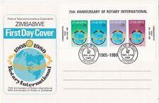 Zimbabwe: 1980, 75th Anniversary of Rotary International, FDC, miniature sheet