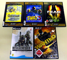 5 pc giochi collezione Fear Gunman Metal Gear Solid Wanted SWAT 3 USK 18 Shooter