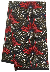 Beautiful New Design African Fabric Wax Print Sewing Quilts Crafts Per Yard