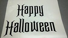 "Large Happy Halloween Vinyl Letters Decal - Approx 11"" Wide"