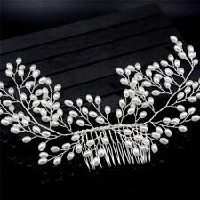 Luxus Vintage Braut Haarschmuck Handgefertigte Perle Hochzeit Schmuck Kamm NAB