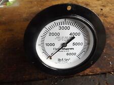"ROTOTHERM 100mm ( 4"" ) 6000 PSI  PRESSURE GAUGE"