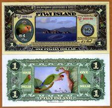 Piwi Island, 1 Dollar, 2014, Polymer, Parrot, UNC