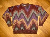 Vtg 70s 80s Cambio Italy LARGE Retro Print FRESH PRINCE Cosby Hip Hop Sweater
