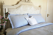3 piece blue embroidered quilt, bedspread, duvet cover in King, Queen & Double