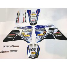 2007 - 2014 YAMAHA WR 250 GRAPHICS WR250F KIT PRO CIRCUIT : BLUE / BLACK DECALS