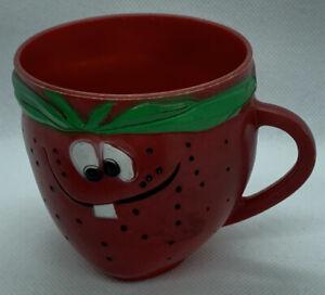 "Vtg 1969 Pillsbury FUNNY FACE ""FRECKLE FACE STRAWBERRY"" Plastic Mug Cup Kool-Aid"