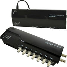 6 Way TV Aerial Distribution Amplifier–4G Amp Splitter Booster F-type Coaxial DC