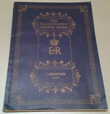 VINTAGE ROYAL BOOK.1953 CORONATION.LONDON ILLUSTRATED NEWS.68 PAGES.PROP.DISPLAY