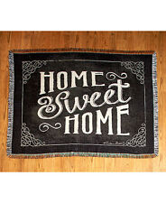 Sentiment Home Sweet HomeTapestry Throw Country Primitive Simplify Blanket
