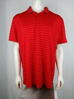 Nike Golf Mens Standart Fit Shirt size XL Red Striped Short Sleeve Polo