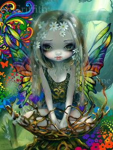 Jasmine Becket-Griffith art BIG print hippie fairy flower child SIGNED Paisley