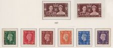 (GBS-111) 1937 GB mix of 8 stamps KGV (DB)