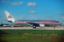 """American Airlines Airbus A300 N11060 at MIA October 1997 8""""x12"""" Color Print"""