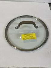 "New Circulon Bronze Premier Pro 8 Qt Stock Pot 10"" Glass Replacement Lid"