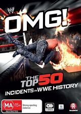 WWE - Omg! The Top 50 Incidents In WWE History (DVD, 2016, 3-Disc Set)