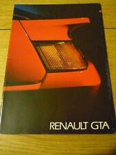 RENAULT GTA BROCHURE 1988 jm