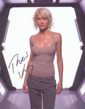 "TRICIA HELFER Signed Photo BATTLESTAR GALACTICA ""Number Six"""