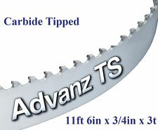 """11' 6"""" (138"""") x 3/4"""" x 3T CARBIDE TIPPED BANDSAW BLADE!"""