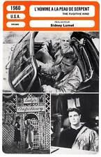 FICHE CINEMA : L'HOMME A LA PEAU SERPENT - Brando,Lumet 1960 The Fugitive Kind