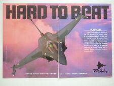 4/1996 PUB DASSAULT AVIATION SNECMA MATRA THOMSON RAFALE C01 ARMEE DE L'AIR AD