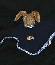 Peluche Doudou Lapin Bleu SIGIKID Beige Couverture Polaire Schmusetuch Hase TTBE