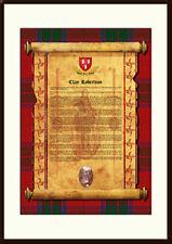 CLAN ROBERTSON -Clan History, Tartan, Crest, Castle & Motto MOUNTED PRESENTATION