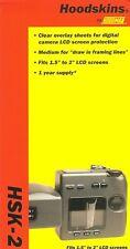 """15 PACKS OF HOODMAN HSK-2 HOODSKINS - LCD 1.5""""-2"""" SCREEN PROTECTORS 12 PER PACK"""