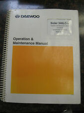 Daewoo / Solar S340LC-V Excavator Operation & Maintenance Manual