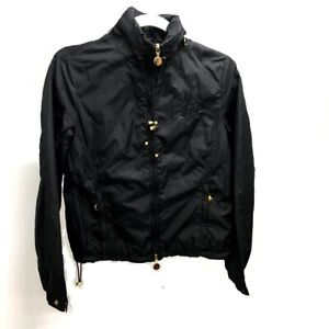 MONCLER Sequin Logo Zip up Jacket Nylon Black