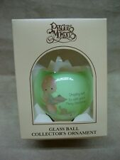 Vintage Mint In O.B. 1980 Precious Moments Dropping Over Christmas Ornament!