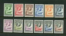 Bechuanaland #154-165 (BE495) complete 1955-8 Queen Elizabeth, MNH,VF, CV$116.35