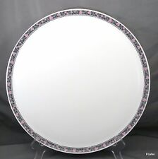 "Wedgwood Fairmont Torte Plate White Bone China Platinum Trim 12.75"" Cake Pastry"