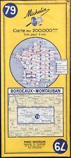 N° 79 - CARTE MICHELIN - BORDEAUX - MONTAUBAN 1968