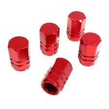5 Premium Red Aluminum Tire/Wheel Air Stem Valve Caps for car-truck-hot rod