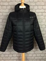 UNDER ARMOUR MENS UK M BLACK INSULATED HOODED JACKET £115 *