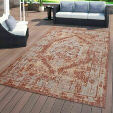Traditional Oriental Rug Flatwave Patio Terrace Kitchen Rugs Carpets Red Mats