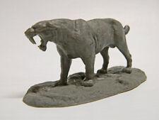 Smilodon fatalis La Brea tar pit sabertooth resin model,new base 1/24 scale