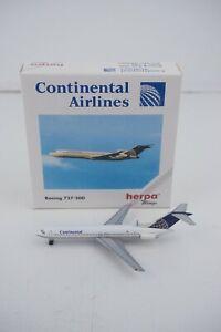 Herpa Wings Continental Airlines Boeing 727-200 #503051 1:500 Die-Cast Airplanes
