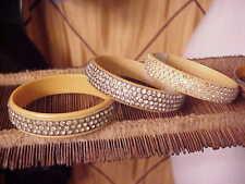 3 CELLULOID Rhinestone Sparkle Bracelets Vintage ART DECO Flapper