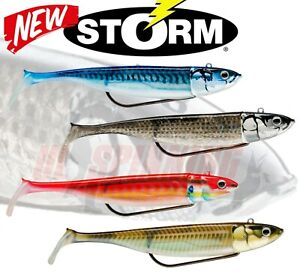 New STORM 360 GT BISCAY WEEDLESS Shad Lures 2 Pack Bass Sea Fishing Pollock Gear