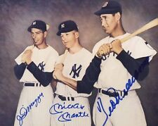 Mickey Mantle/Joe DiMaggio/Ted Williams Signed 8x10 Photo Reprint