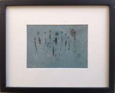 Thierry COUET 1961.Composition abstraite.Pastel et encre.12x18.SBD.2004.Cadre.