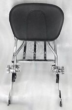 NEW Adjustable Detachable Backrest Sissy Bar Rack Chrome Harley Touring 09-17