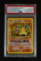 PSA 9 Charizard #4/102 1999 Holo Mitsuhiro Arita Signed Pokemon Card
