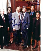 ORBACH HARMON BRATT WATERSTON LAW AND ORDER CAST SIGNED 8 x 10 PHOTO PSA DNA